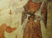 Tőrábrázolás egy zürichi ház falfestményén, 14. század első fele