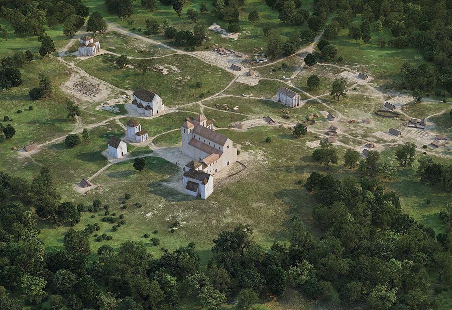 Pécs, 1064, virtuális rekonstrukció