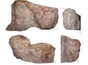 A nyalábvári sírkő töredékei