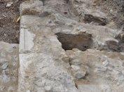 Az Aranyos Mária kápolna alatti korábbi kápolna nyugati bővítményének maradványai kelet felől nézve