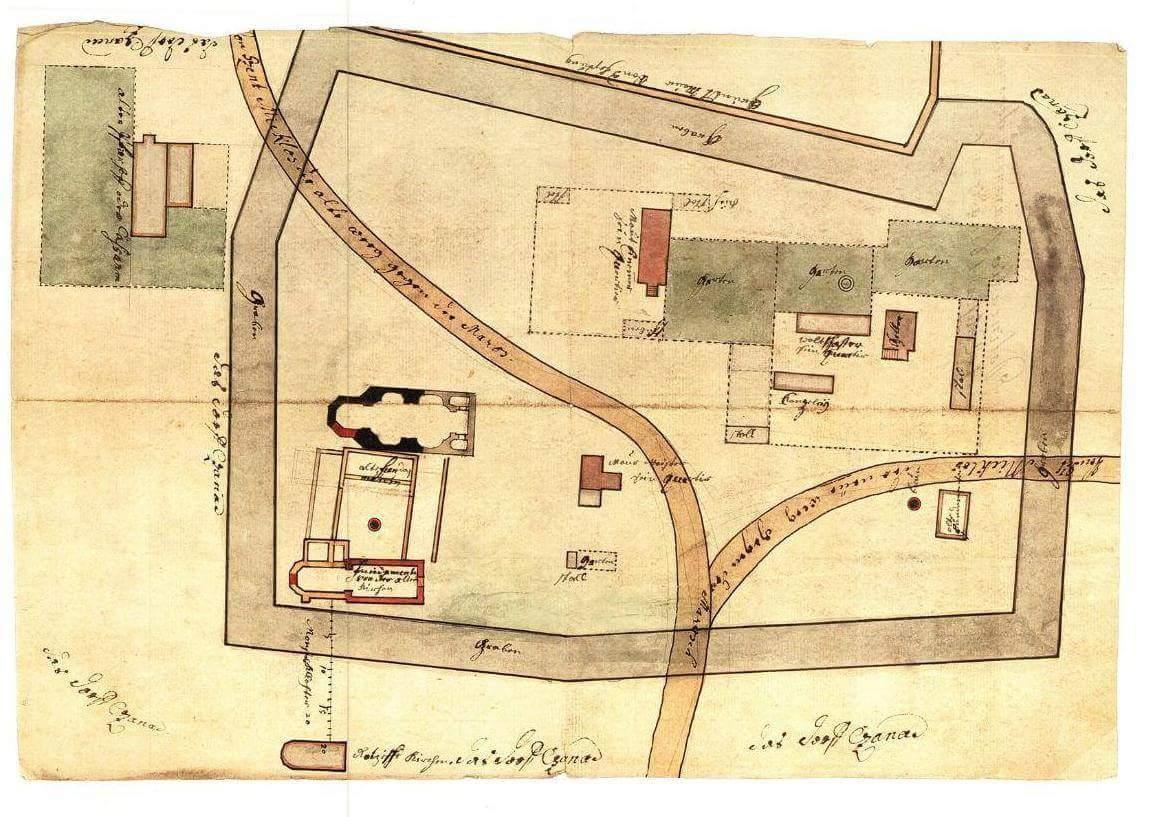 A 18. századi térképvázlat