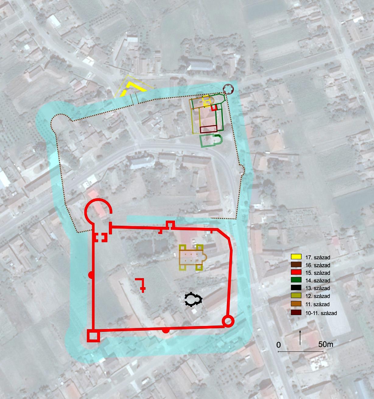 A csanádi vár és templomok elhelyezkedésének rekonstrukciója (Buzás Gergely)