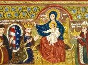 I. Károly koronázása Mária által a szepeshelyi templom falán