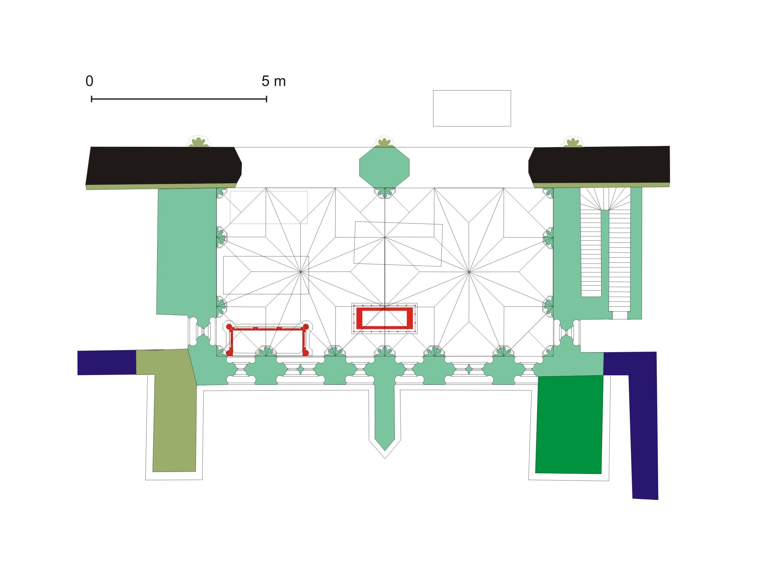 A székesfehérvári Szent Katalin kápolna rekonstruált alaprajza