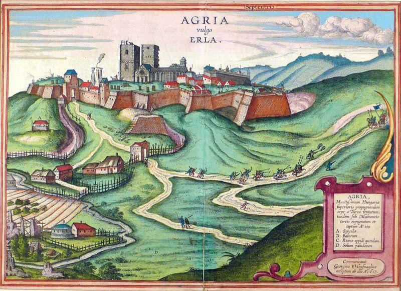 Az egri székesegyház Georg Houfnagel 1617-ben megjelent metszetén