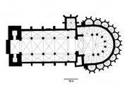 A XIV. századi gótikus székesegyház alaprajzi rekonstrukciója
