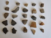 Kora-Árpád kori kerámiatöredékek az érsekkertből