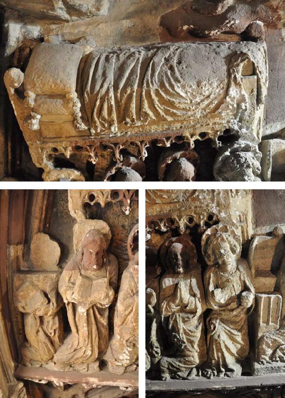 Mária ágya és apostolok