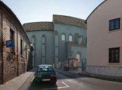 A pécsi domonkos templom rekonstrukciója a jelenlegi utcaképbe helyezve