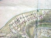 1. Karpe Mihály 18.századi Visegrád térképének részlete a lelőhely környezetével