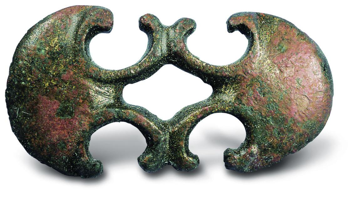 Bronz övveret a pátyi temetőből