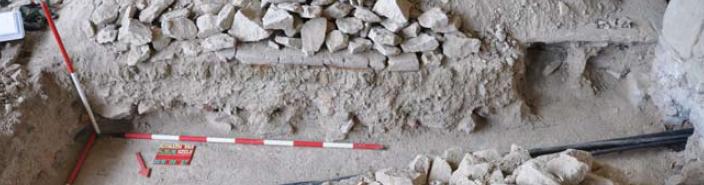 A 2010/15-16. kutatóárkok nyugati metszetfala az északi palota DNy-i helyiségében